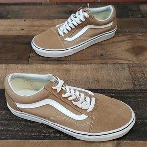 6ecf48c1f2ec Vans Shoes - Vans Old Skool Tiger Eye Tan White Skate Shoes Men